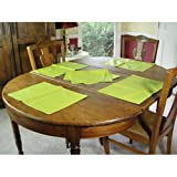 Set of 4 Coated French Placemats - Lime
