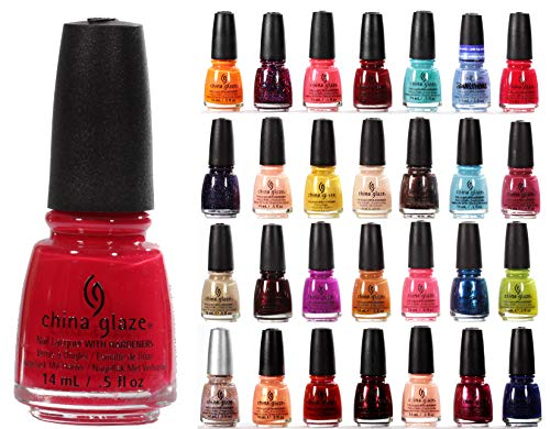 China Glaze Nail Lacquer Polish 12 Piece Bundle Mixed Color Surprise Lot ()