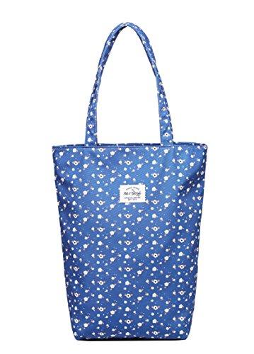 Hotstyle CABAS BASIQUE Sac à Main Tendance 41x32.5x11.5 cm S020o, Bleu Floral