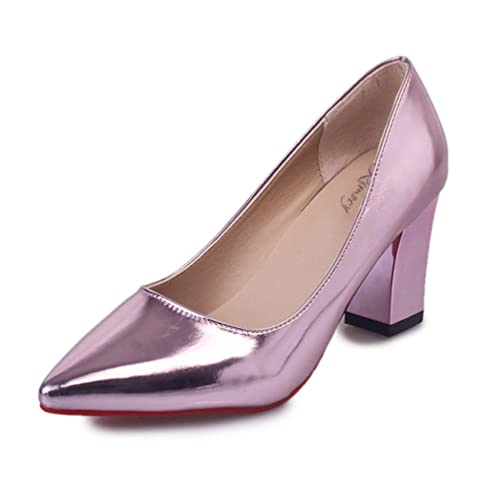 Mocasines de Bombas de Las Mujeres Zapatos de Oficina Confortable Plaza talón Elegante Corte Zapatos Damas Zapatos de tacón Altos: Amazon.es: Zapatos y ...