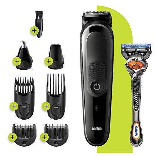 Braun 8-in-1 Trimmer MGK3260 Beard Trimmer for Men, Face Trimmer & Hair Clipper, Black/Grey