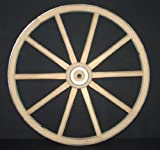gun buggy shooting cart - Functional - Wood Wagon Wheel - Small Cart Wooden Wagon Wheels - 16 inch with 10 staggard spokes and 1/2 inch steel sleeve axle hole