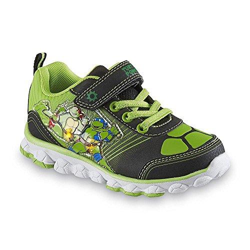Teenage Mutant Ninja Turtles Shoes (Nickelodeon Boy's Teenage Mutant Ninja Turtles Shoe, Green/black Light-up (11))