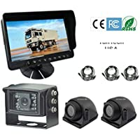 5 LCD Color Rear View Backup Camera System with CCD 120° Wide View and Night Vision, Free 32 Cable. by YanTech USA