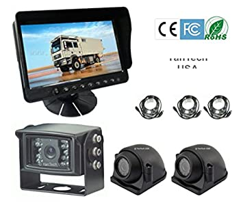 5 LCD Color Rear View Backup Camera System with CCD 120 Wide View and Night Vision, Free 32 Cable. by YanTech USA