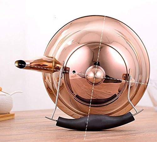 HSWJ Bouilloire pour cuisinière Ménage Kettle Cuisinière en Acier Inoxydable Poli Teapot gaz Cuisinière à Induction 5L Universal Bouilloire en Acier Inoxydable