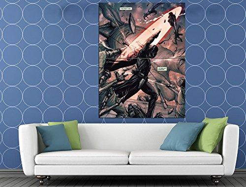 Darth Vader Lightsaber Fight Sith Lord Star Wars Art Huge Giant Print Poster