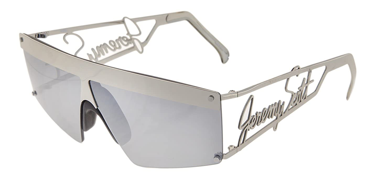 d95d24e0575e Amazon.com: LINDA FARROW Jeremy Scott SIGNATURE Visor Silver Mirrored  Sunglasses JS16: Clothing