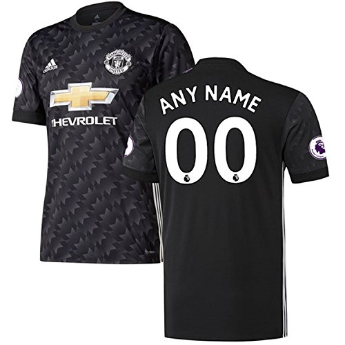 ited 2017/18 Any Name Any Number Away Custom Jersey - Black (Large)  (Climacool Custom Jersey)