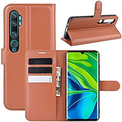 MISKQ Funda para Xiaomi Mi Note 10,Funda con diseño de Cartera,Estuche para el teléfono Anti caída,Estuche de Silicona(marrón): Amazon.es: Electrónica