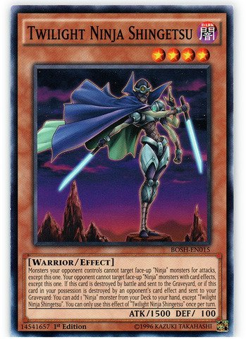 Yu-Gi-Oh! - Twilight Ninja Shingetsu (BOSH-EN015) - Breakers of Shadow - 1st Edition - Common