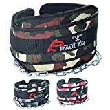 "Dip Belt with 36"" Extra length Heavy Duty Chain, Comfort Fit Neoprene, Double Stitching Maximize your Weightlifting & Bodybuilding Workouts with Durable Dipping Belt, Extra Padding (Green Camouflage) Review"