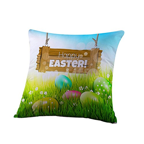 - HYIRI Big Easter Cotton Pillowcase Sofa Waist Letter Pattern Throwing pad Set Home Decoration