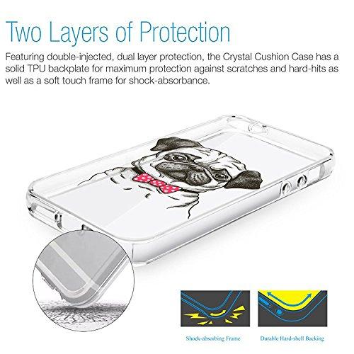 Vanki® iPhone 5S Funda, Protectiva Carcasa de Silicona de gel TPU Transparente Ultra delgada Amortigua los golpes Case Cover Para iPhone 5/SE Tecnología IMD Patrón de Impresión 08