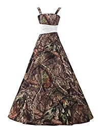 Oumans women's Camouflage Long Pageant Dresses for Bridesmaid OS41