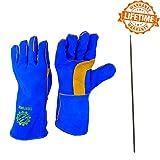 Welding Gloves for Tig Welders and Mig Welders - Free Steel Welding Rod - 14