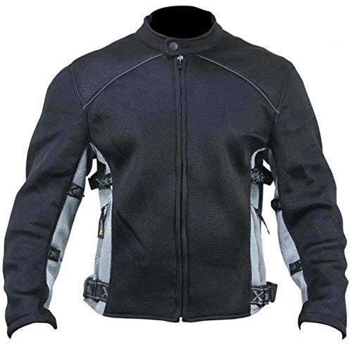 Xelement CF505 Mens Black Advanced Level-3 Mesh Sports Jacket - (Mens Advanced Xelement Motorcycle)