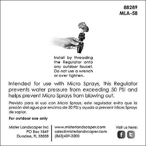 Mister Landscaper 50 PSI Regulator for Micro Spray Irrigaiton Systems Renewed