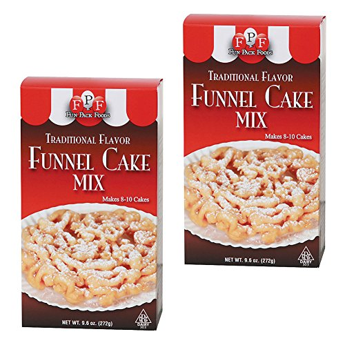 (Set/2) FPF Carnival Funnel Cakes Refill Batter Mix - Makes 8-10 Desserts