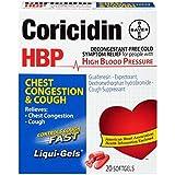 Coricidin HBP Chest Congestion & Cough Liqui-Gels 20 Liqui-Gels (Pack of 5)