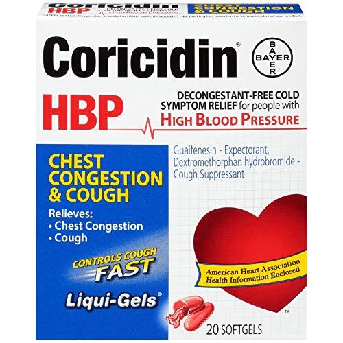Coricidin HBP Chest Congestion & Cough Liqui-Gels 20 Liqui-Gels (Pack of 5) by Coricidin Hbp