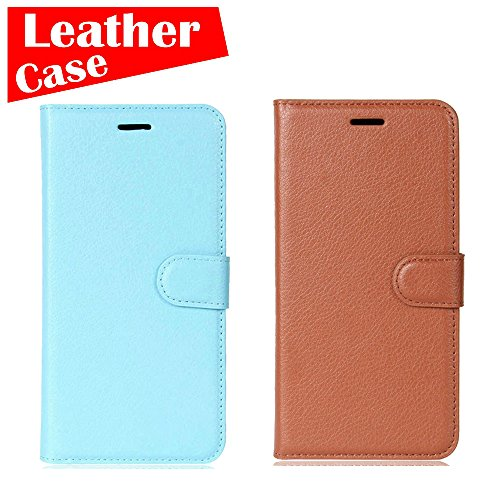 Apple iPod Touch 5 5th Touch 6 6th, 2 Pack case [Brown+Blue] [eBuyLife] Phone Case, Flip Leather Wallet Slim Soft Folio Cover Credit Card Slots Cash Clip Stand Holder Magnetic - Liv Cover Charge