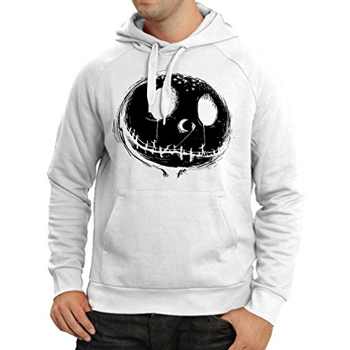 lepni.me Hoodie Scary Skull Face - Nightmare - Halloween Outfit Party Costumes (X-Large White Multi -