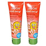 Jason Kids Only Strawberry Toothpaste with Leaf Juice, and Natural Flavors, 4.2 fl. oz. (Pack of 2)