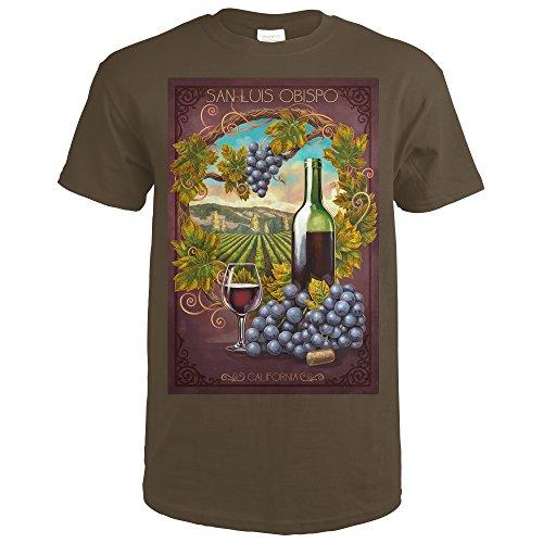 Merlot Framed - San Luis Obispo, California - Merlot (Dark Chocolate T-Shirt X-Large)