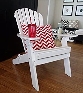 product image for Poly Recycled Plastic Adirondack Chair with One Cupholder- White
