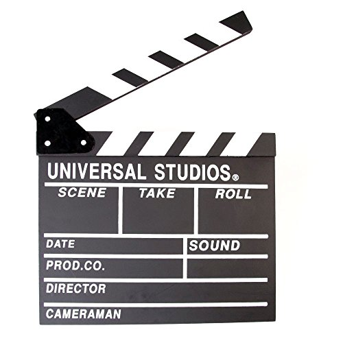 Foto4easy Professional Vintage TV Movie Film Clap Board Slate Cut Prop Director Clapper Vintage Video Camera