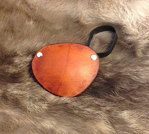 Steampunk Tan Leather Eye Patch Cosplay Larp SCA Steampunk Pirate Medical Theater Stage Tv