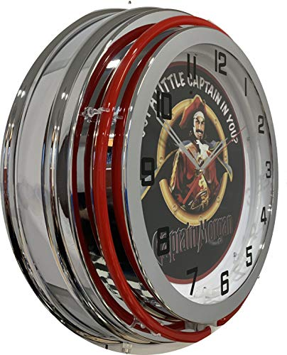 Captain Morgan 19 Inch Double Neon Clock Captain Morgan Neon Signs
