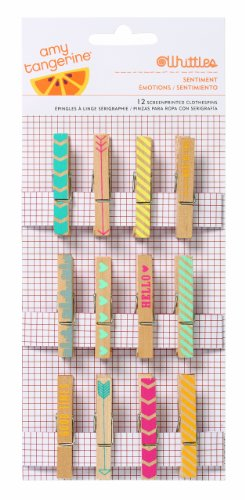 American Crafts Amy Tangerine Yes Please Clothespins