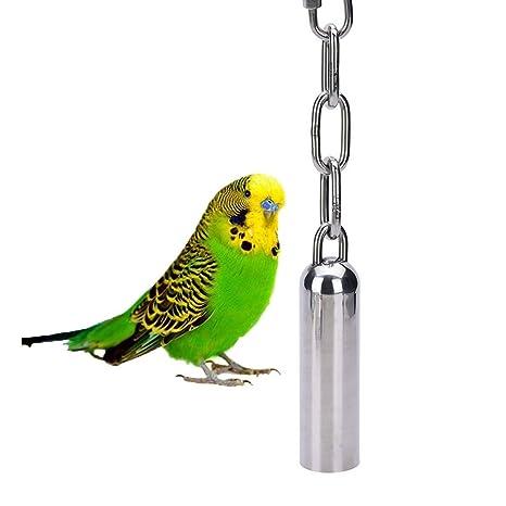 Juguete con sonido de campanas para aves, de acero inoxidable ...