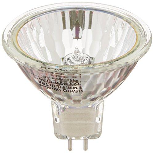 Ushio BC2895 1002237 - FMW/FG JR12V-35W/FL36/FG/ULTRA - 10,000 Hour 35W MR16 Light Bulb, 12V, 36 Degree Beam