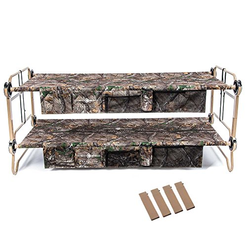 Disc-O-Bed X-Large Realtree Cam-O-Bunk Cot w/ Organizers + 7 Inch Leg Extensions