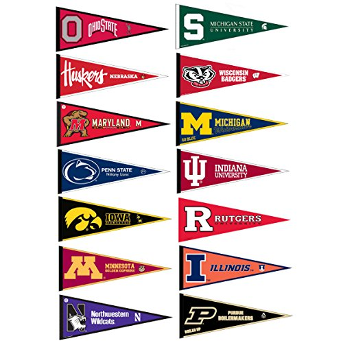 Big Ten Conference College Pennant