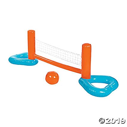 Amazon.com: Juego de voleibol hinchable para piscina, juego ...