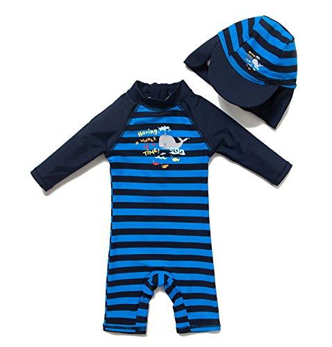 - Bonverano(TM Kid's UPF 50+ Sun Protection S/S One Piece Zip Sun Suit(4 Year)