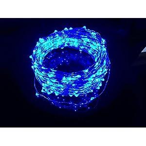 Cincy Illumination LED Waterproof Fairy String Light, 100-Feet, Blue