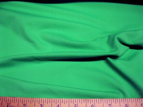 Discount Fabric Polyester Lycra /Spandex 4 way stretch Solid Grass Green LY930