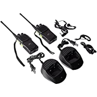 Baofeng Pofung GT-1 UHF 400-470MHz FM Two-way Ham Radio(Green), 16 Channels, 1500mAh Battery, 2 Pack