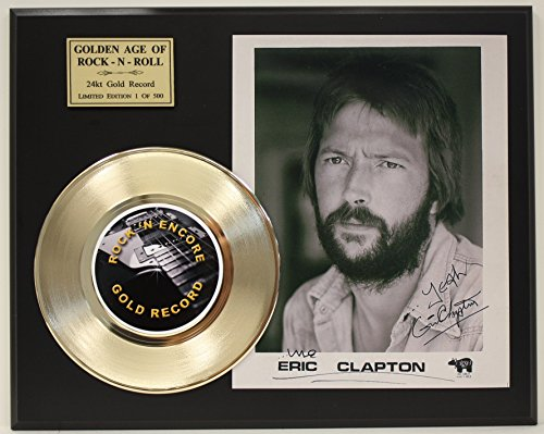 Eric Clapton Gold Record Reproduction Signature Series LTD Edition Display