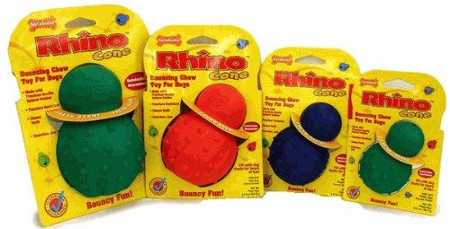 Nylabone Rhino Cone Dog Chew Toy, Regular