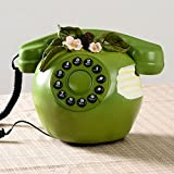 Retro dial phone Creative fashion personalized phone Apple fixed telephone-green