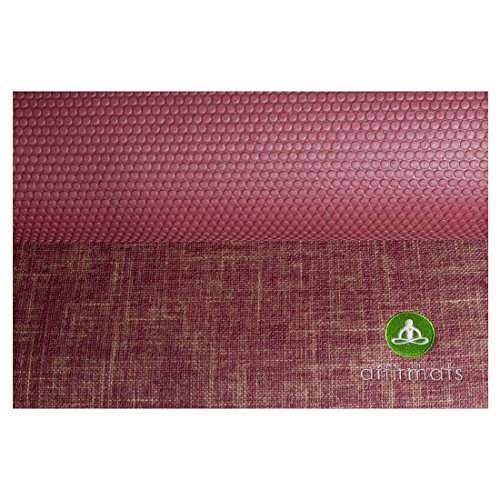 Affirmats Best Premium Designer Non Slip Non Toxic Phthalate Free Yoga Mat for Hot Yoga, Pilates, Bikram Yoga by affirmats