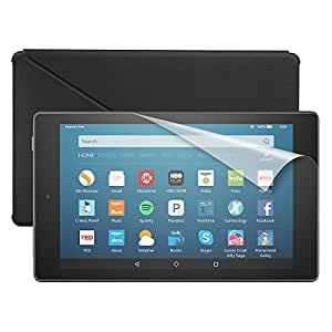 """Fire HD 8 Essentials Bundle including Fire Tablet, 8"""" Display, Wi-Fi, 16 GB - Includes Special Offers, Amazon Cover - Black and Screen Protector"""