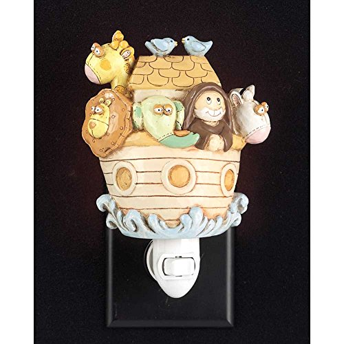 Noah's Ark and Animals 5 x 6.5 Resin Stone Plug-in Night Light Decoration by Dicksons