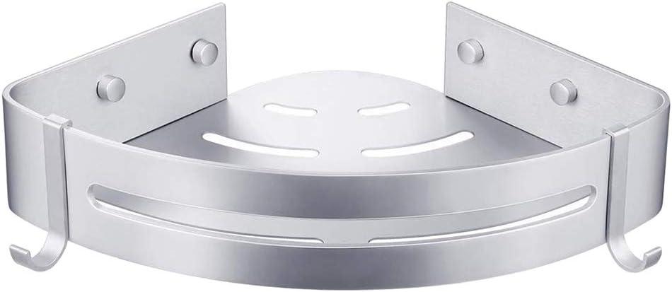 Aluminio Estante de ba/ño YUEKUN Estantes Ducha Bogeer Estanteria ducha esquina pared para ba/ño sin Taladro Pegamento Patentado